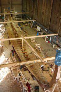 Construction of the 35 m long Skeid longship Draken Harald Hårfagre