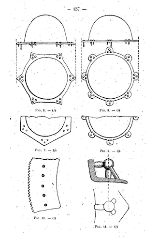 Shield Boss designs from the Groix Ship Burial