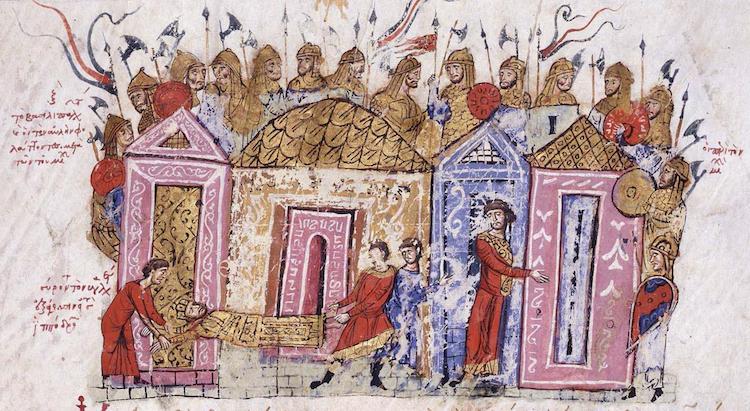 Varangian Guardsmen, an illumination from the Skylitzis Chronicle