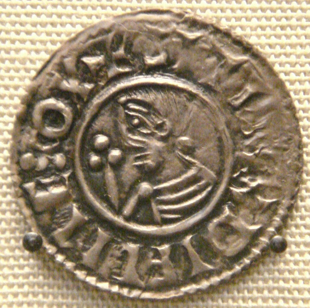 a silver coin from Ireland depicting king Sihtric of Dublin
